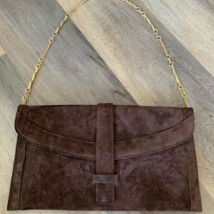 VINTAGE velours envelope handbag